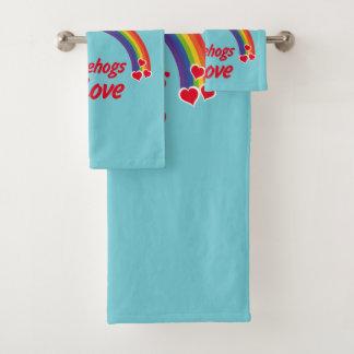 Igel in der Liebe Badhandtuch Set
