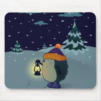 Igel Jan. in der Winternacht Mousepad
