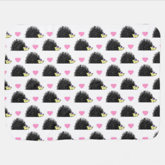 Igels-Herz-Muster-Weiß Puckdecke