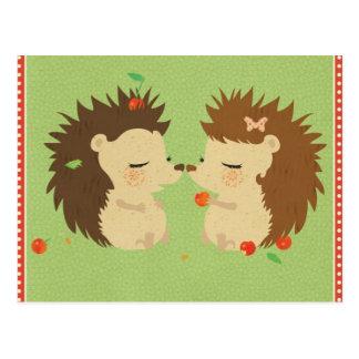 Igels-Liebe-Postkarte Postkarte
