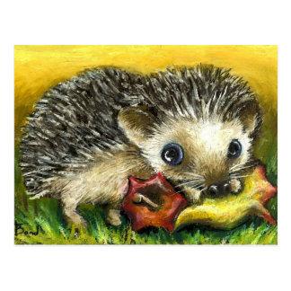 Igels- und Apfelpostkarten Postkarten