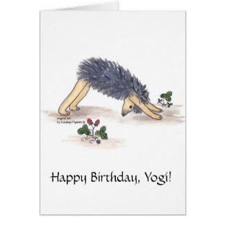 Igels-Yoga Abwärts-Einfassung-Hund Grußkarte