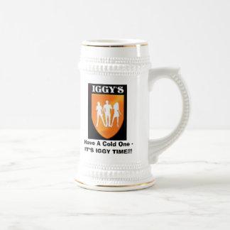 Iggy'sLogo, haben ein kaltes - ES Bierkrug