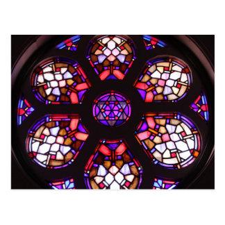 Iglesia del Valle-Rosenbeet-Fenster Postkarte