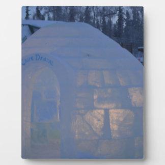 Iglu-Gebäudewasser-Kristallkompression Fotoplatte