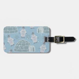Iglus und Pinguin-Muster Gepäckanhänger