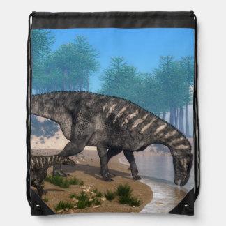 Iguanodon Dinosaurier leben an der Küstenlinie in Turnbeutel
