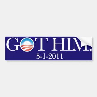 Ihn erhalten. Osama bin Laden verschied. 5-5-11. S Autoaufkleber