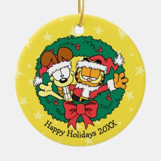 Ihnen das Beste der Jahreszeit wünschen Rundes Keramik Ornament