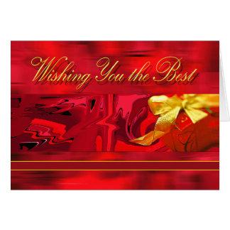 Ihnen das beste Weihnachten wünschen Karte