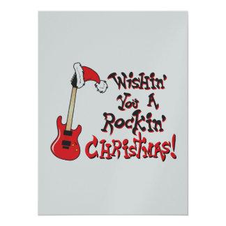 Ihnen eine Schwingweihnachtsgitarren-Einladung Karte