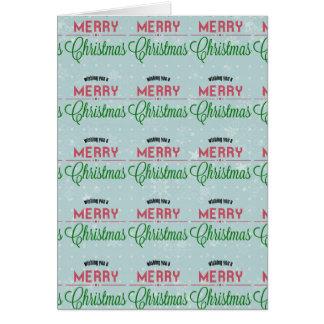 Ihnen frohe Weihnachten wünschen typografischer Karte