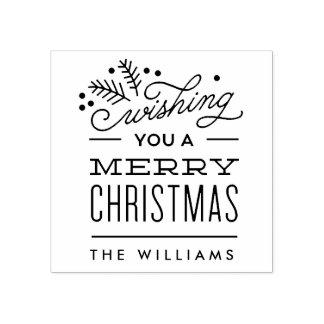 Ihnen frohen Weihnachten wünschen personalisierte Gummistempel