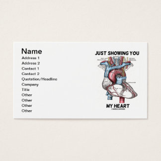Ihnen mein Herz (anatomisches Herz) gerade, Visitenkarte