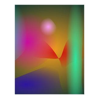 Ihr abstraktes flyerbedruckung