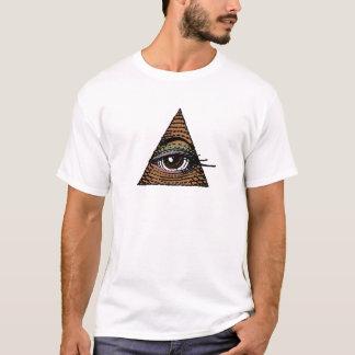 Ihr Auge in der Pyramide (Brown) T-Shirt