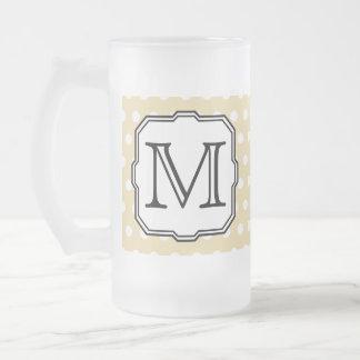 Ihr Brief. Kundenspezifisches Monogramm. Beige Mattglas Bierglas