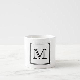Ihr Brief. Schwarzweiss-Monogramm Espresso-Tasse