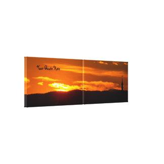Ihr des Zitat-Kirchen-Sonnenuntergang hier   Leinwanddruck