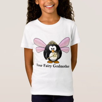 Ihr feenhafte Patin-Cartoonpenguin-Fee-T - Shirt