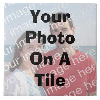 Ihr Foto auf einer Fliese