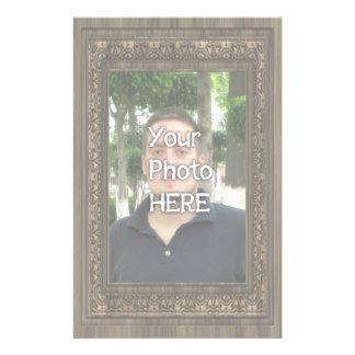 Ihr Foto-hier hölzerner (Druck) Rahmen Briefpapier