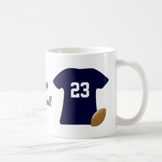 Ihr Fußball-Shirt mit Ball Kaffeetasse