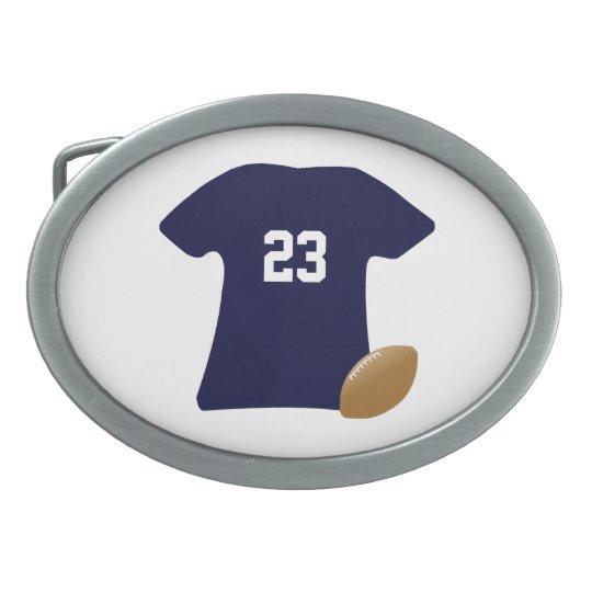 Ihr Fußball-Shirt mit Ball Ovale Gürtelschnallen