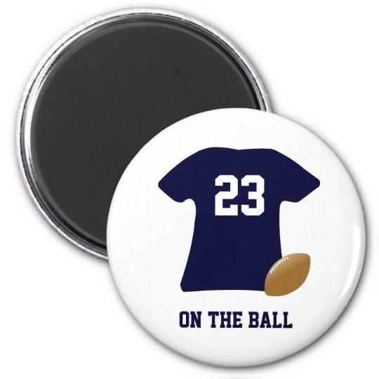 Ihr Fußball-Shirt mit Ball Runder Magnet 5,7 Cm