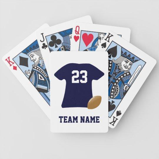 Ihr Fußball-Shirt mit Ball-Spielkarten Pokerkarten