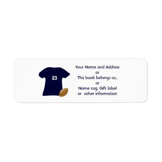 Ihr Fußball-Shirt-Rücksendeadressen-Aufkleber