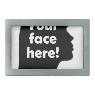 Ihr-Gesicht-hierkopie Rechteckige Gürtelschnalle