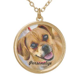 Ihr Haustier-Foto oder liebevolle Halskette Mit Rundem Anhänger