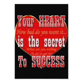Ihr Herz ist das Geheimnis zum Erfolg Karte