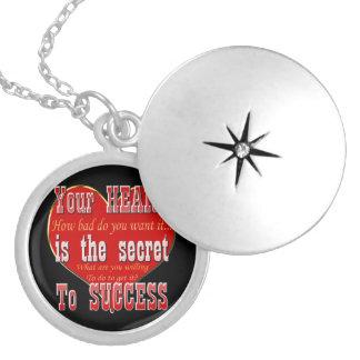 Ihr Herz ist das Geheimnis zum Erfolg Versilberte Kette