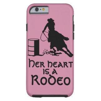 Ihr Herz ist ein Rodeo-Fass, das Cowgirl läuft Tough iPhone 6 Hülle
