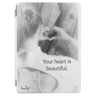 """""""Ihr Herz ist schöne"""" intelligente Abdeckung iPad iPad Air Cover"""