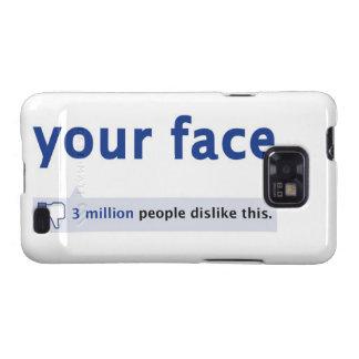 Ihr Kasten Gesicht Samsung-Galaxie-S Galaxy S2 Cover