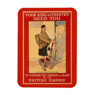 Ihr König-und Land-Bedarf Sie, Britisches Imperium Magnet