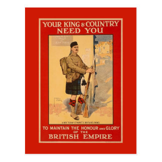 Ihr König-und Land-Bedarf Sie, Britisches Imperium Postkarte