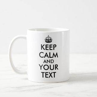 Ihr kundengerechter Text behalten Ruhe und Tasse