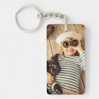 Ihr kundenspezifische Foto-doppelseitiges Rechteck Schlüsselanhänger