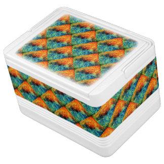 Ihr kundenspezifisches Orange, blau, malend, 12 Kühlbox