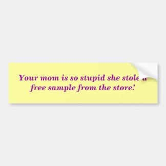 Ihr Momma Autoaufkleber