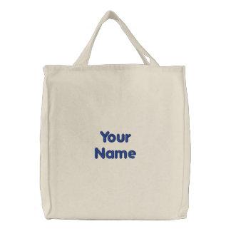 Ihr Name Bestickte Einkaufstaschen