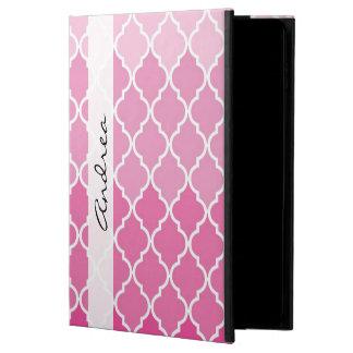 Ihr Name - Ombre marokkanisches Gitter - rosa Weiß