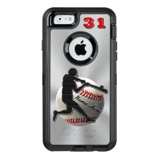 Ihr NAME und ZAHL iPhone 6 Baseball-Hüllen OtterBox iPhone 6/6s Hülle