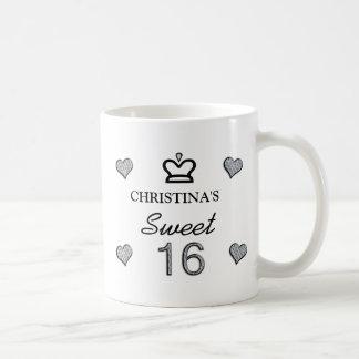 Ihr Namens16. Geburtstag in den Diamanten Kaffeetasse