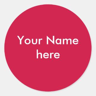 Ihr Namensaufkleber schaffen Ihre Selbst Runder Aufkleber