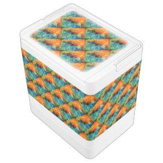 Ihr Orange, blau, malend, Muster, Gewohnheit 24 Igloo Kühlbox